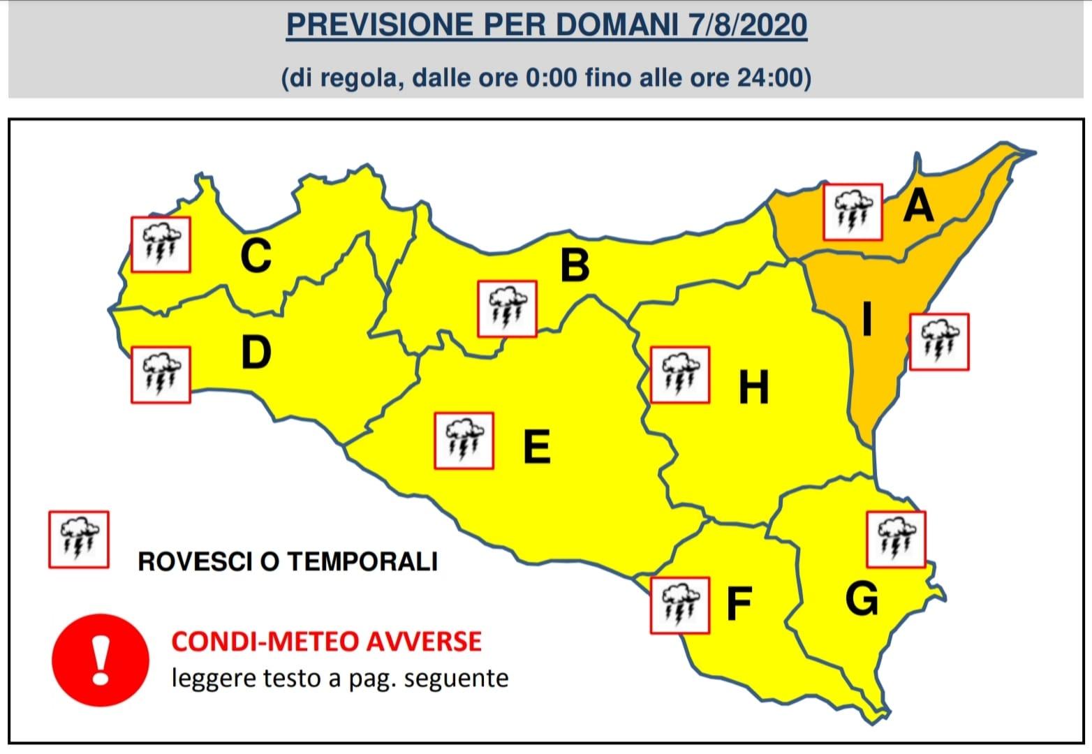 Temporali e venti forti, allerta arancione domani in Calabria